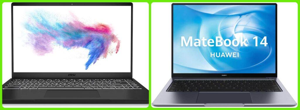 MSI vs Huawei: ¿cual es el mejor ordenador portátil?