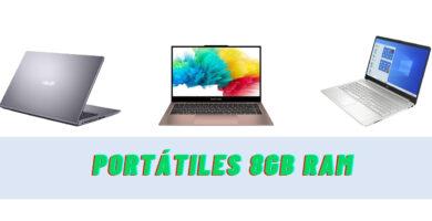 Portátiles 8GB RAM