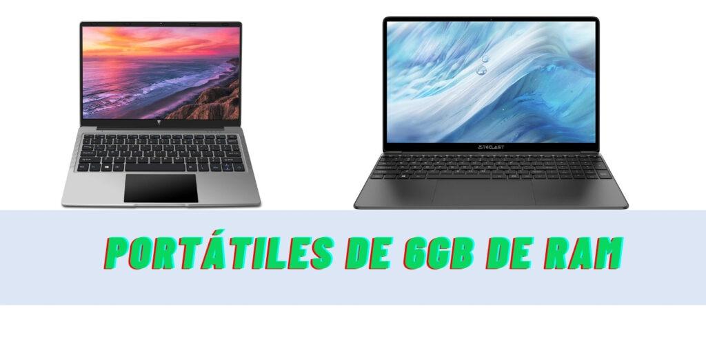 El mejor portátil 6GB RAM: 5 modelos destacados